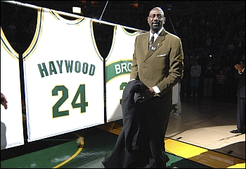 Haywood jersey retirement ceremony